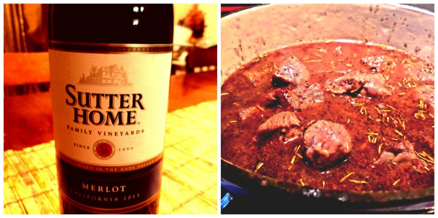 beef and wine collage